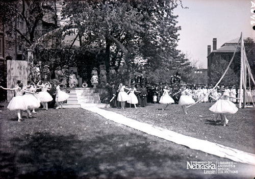 Photo of The first May Pole Dance held in 1903.