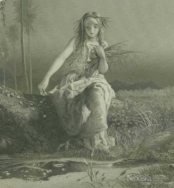 Photo of Shakespeare's Ophelia at UNL